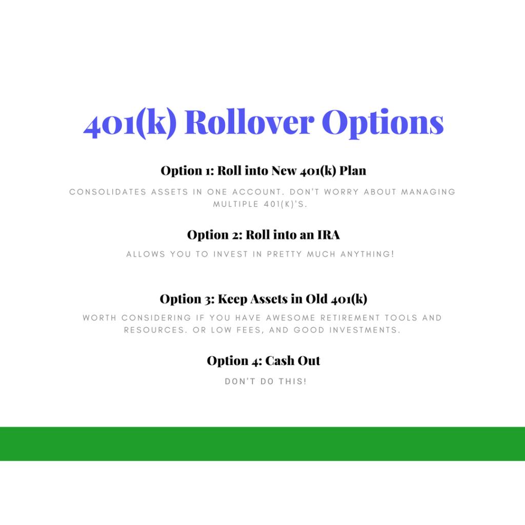 401(k) rollover options